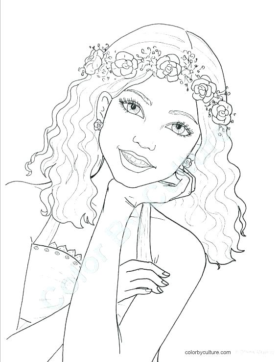 570x738 Coloring Page Face Girl Face Coloring Page Home Coloring Page Face