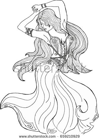 Coloring Pages Of Girls In Dresses at GetDrawings.com | Free ...