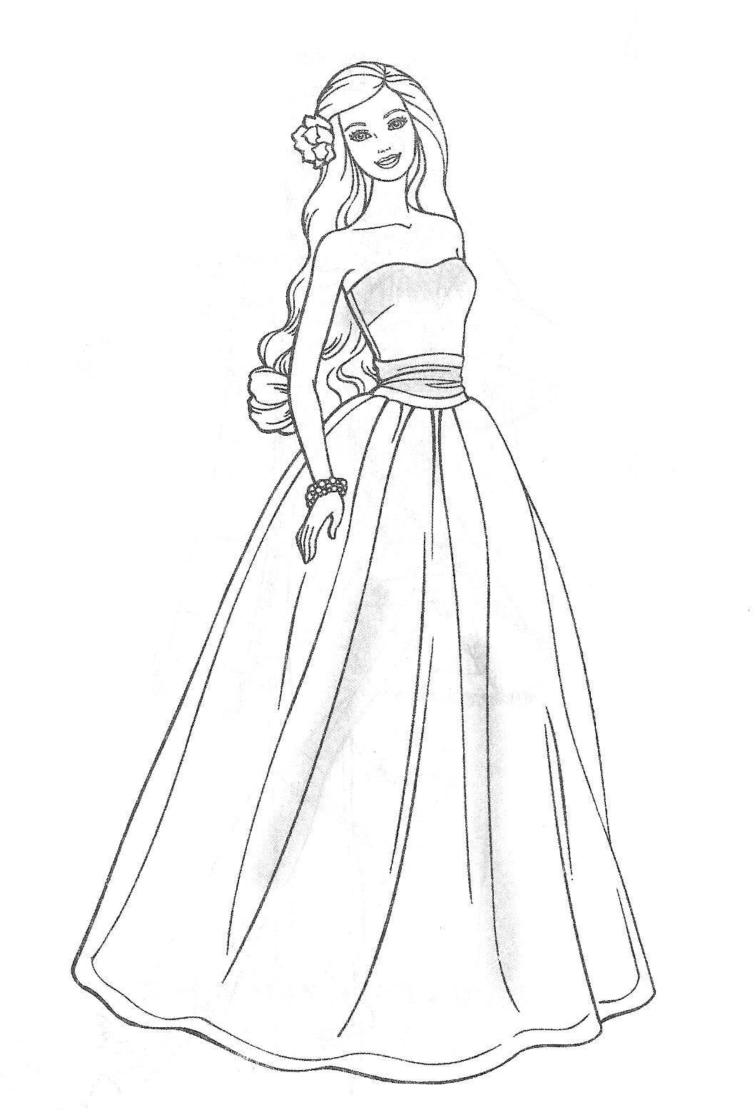 Coloring Pages Of Girls In Dresses At Getdrawings Free Download