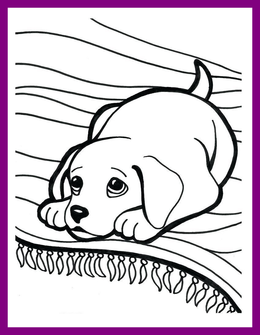 850x1094 Incredible Coloring Puppy Page Golden Retriever For Cute To Print