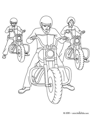 364x470 Motorcycle Coloring Pages