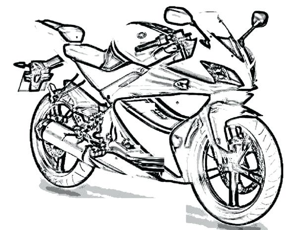 600x464 Coloring Pages Of Motorcycles