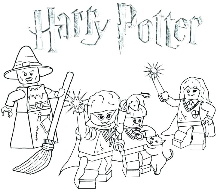 722x650 Harry Potter Coloring Pages To Print Harry Potter Coloring Harry