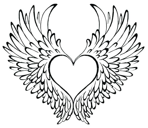 600x519 Coloring Pages Hearts With Wings Coloring Pages Hearts And Flowers