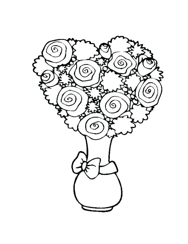 600x777 Coloring Pages Of Flowers Hearts Coloring Pages Hearts