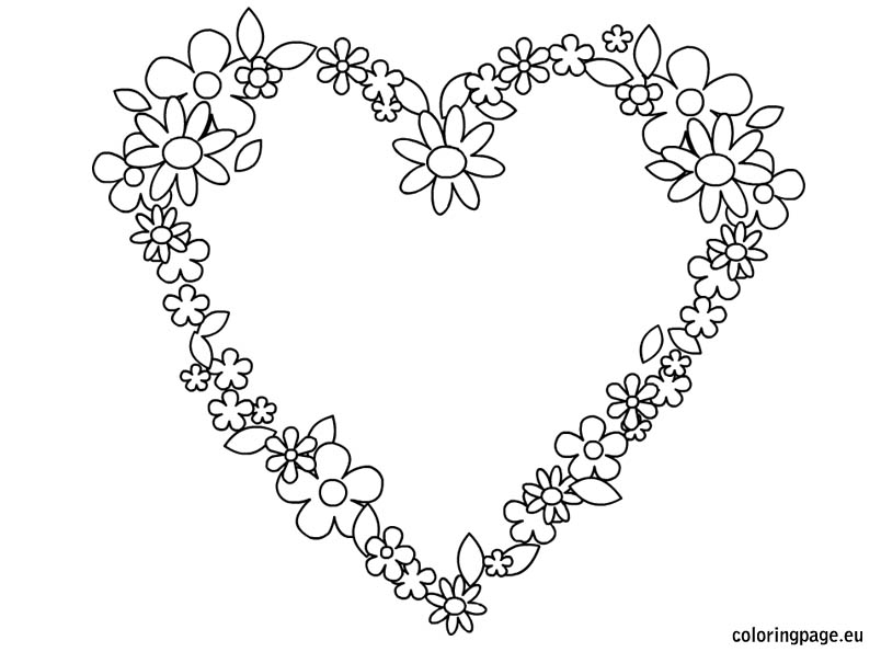 804x595 Coloring Pictures Of Flowers Hearts Pictures Of Hearts
