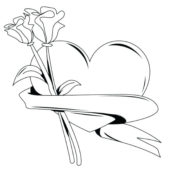 600x609 Coloring Pages Flower Coloring Pictures Of Flowers And Hearts