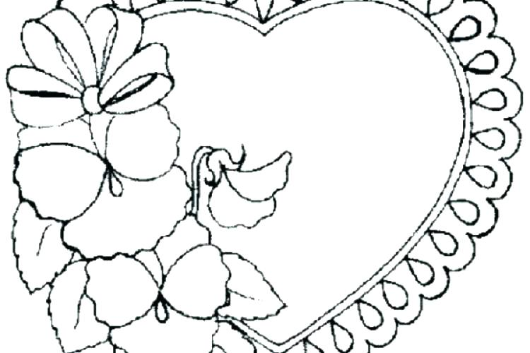 750x500 Free Printable Hearts And Flowers Coloring Pages Coloring Pages