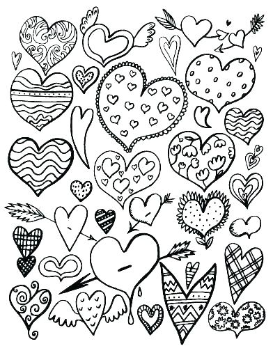 392x507 Hearts Flowers Coloring Pages Coloring Pages Of Flowers