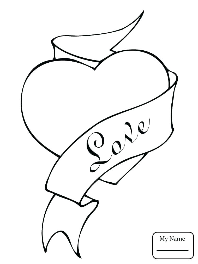 759x1012 Coloring Pages Of Hearts Icontent