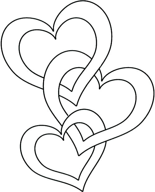 500x620 Coloring Pages Flowers Hearts Coloring Pages Hearts