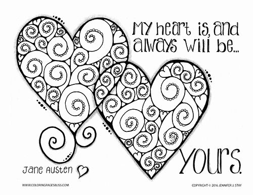 Coloring Pages Of Hearts And Love