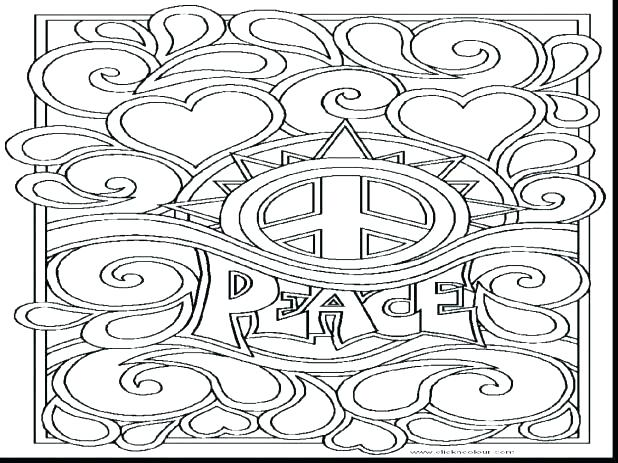 618x463 Coloring Pages Of Peace Signs And Love Sign Dove Page Flower Color