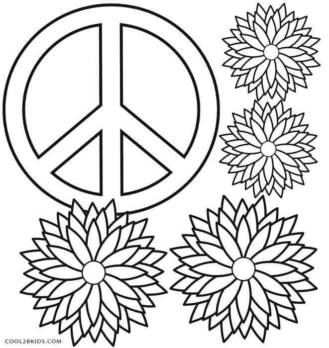 661x700 Free Printable Peace Sign Coloring Pages