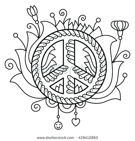450x470 Heart Color Pages Heart Color Pages Peace Signs Coloring Pages