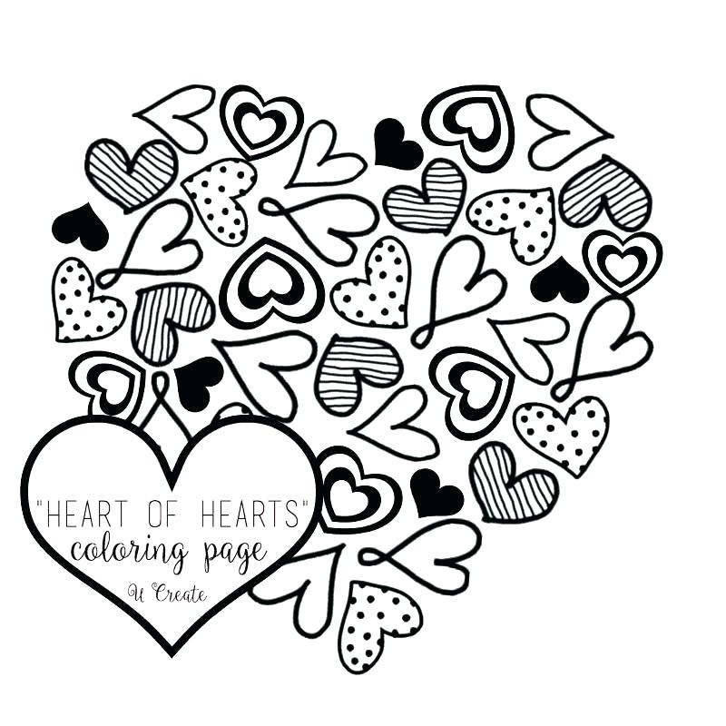 Coloring Pages Of Hearts And Peace Signs At Getdrawings Com Free
