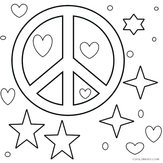 670x670 Peace Coloring Pages Free Printable Peace Sign Coloring Pages