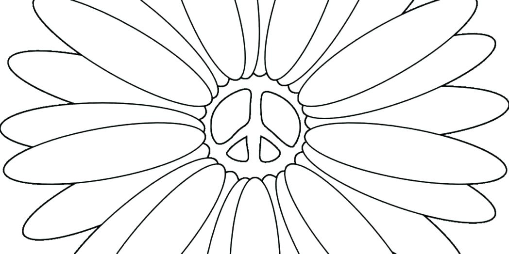 1048x524 Peace Sign Coloring Page Ideal Peace Signs Coloring Pages Print
