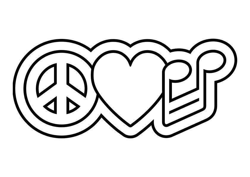 842x595 Peace Sign Coloring Pages Printable Coloring Page