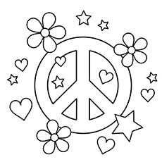 230x230 Top Free Printable Peace Sign Coloring Pages Online Regarding