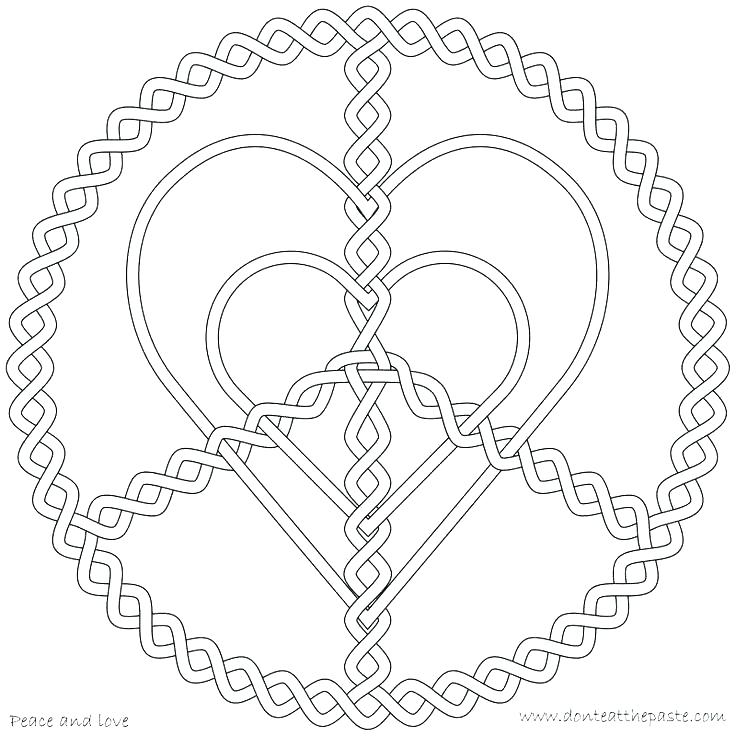 736x736 Valentines Day Hearts Coloring Pages Peace And Love Coloring Pages