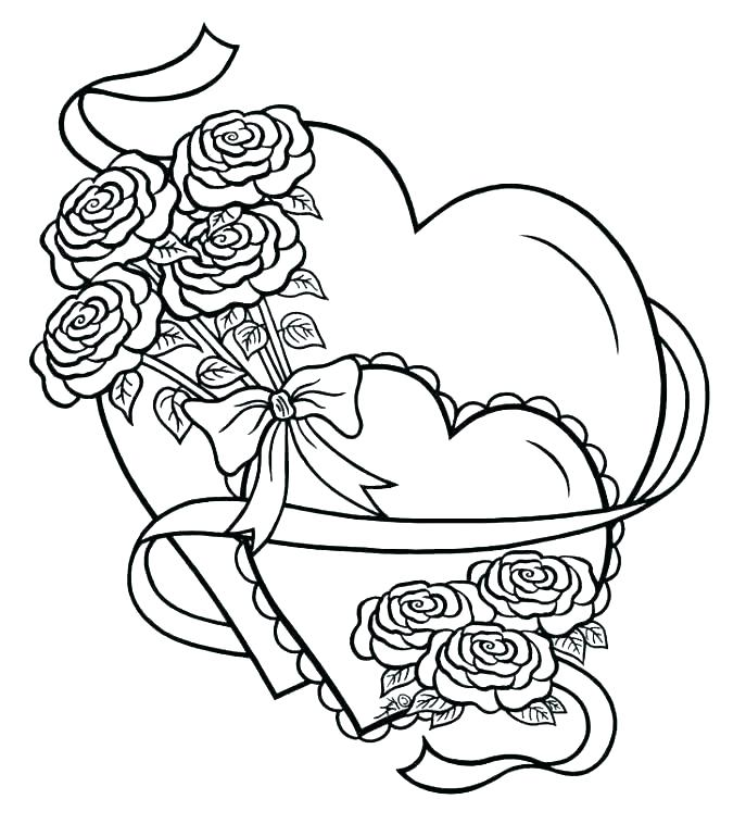 687x758 Coloring Pictures Of Hearts