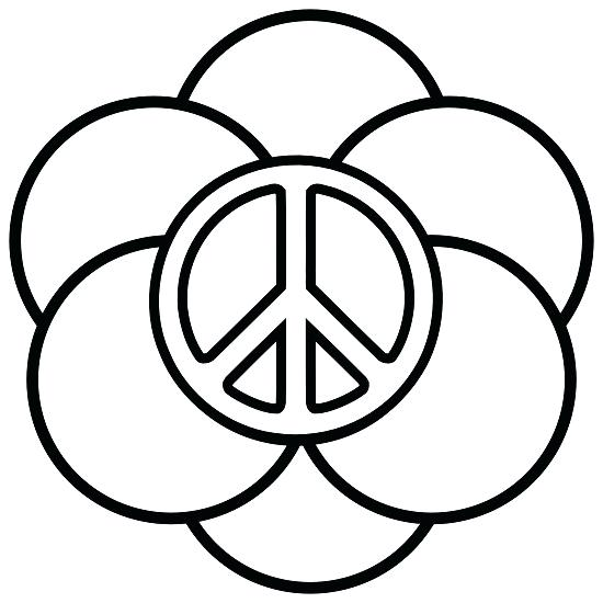 550x550 Peace Sign Coloring Pictures