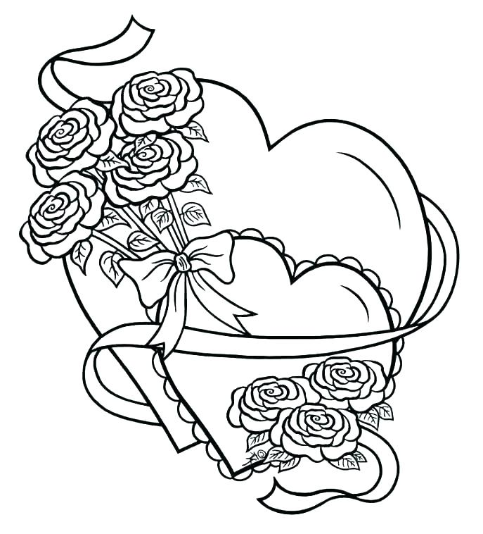 Coloring Pages Of Hearts With Wings And Roses at GetDrawings.com ...