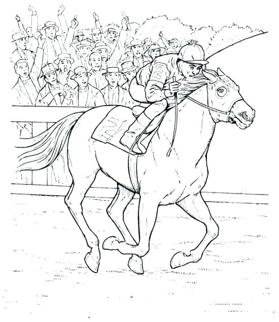 550x634 Arabian Horse Coloring Pages Horse Coloring Pages Print Race Page
