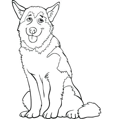 380x400 Siberian Husky Coloring Pages Husky Coloring Pages For Husky