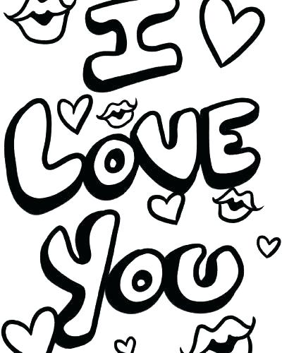 Coloring Pages Of I Love You At Getdrawings Com Free For Personal