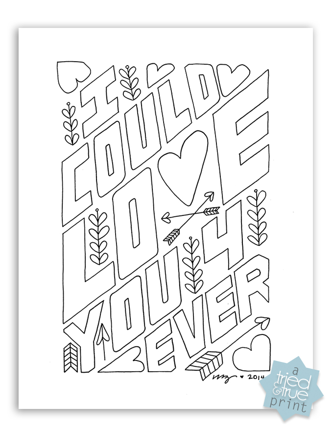 680x880 Love You Forever Free Coloring Page