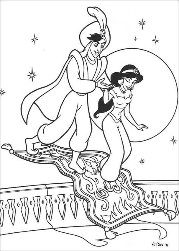 607x850 Coloring Page About Aladdin Disney Movie Nice Drawing Of Jasmine