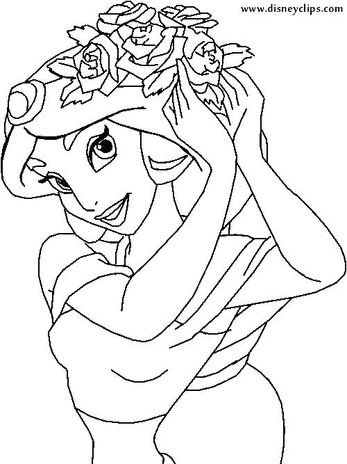 500x667 Jasmine And Aladdin Coloring Pages And Jasmine Coloring Pages Bold