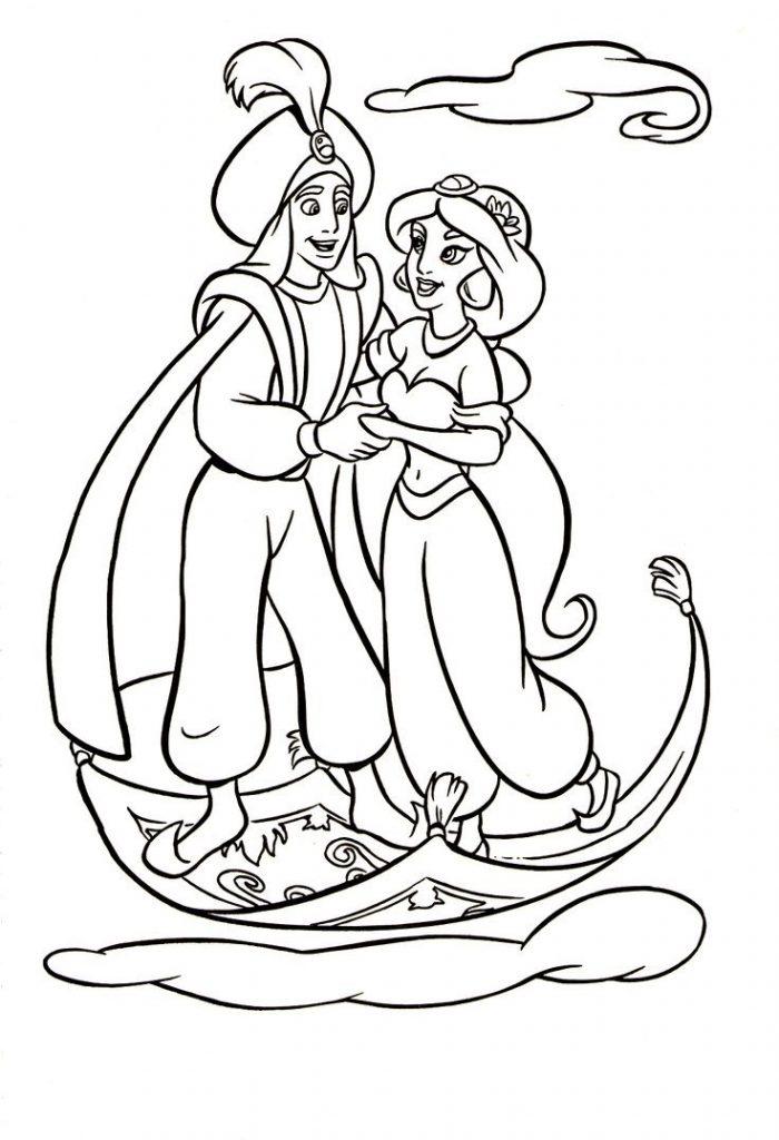 700x1024 Aladdin And Jasmine In The Sky