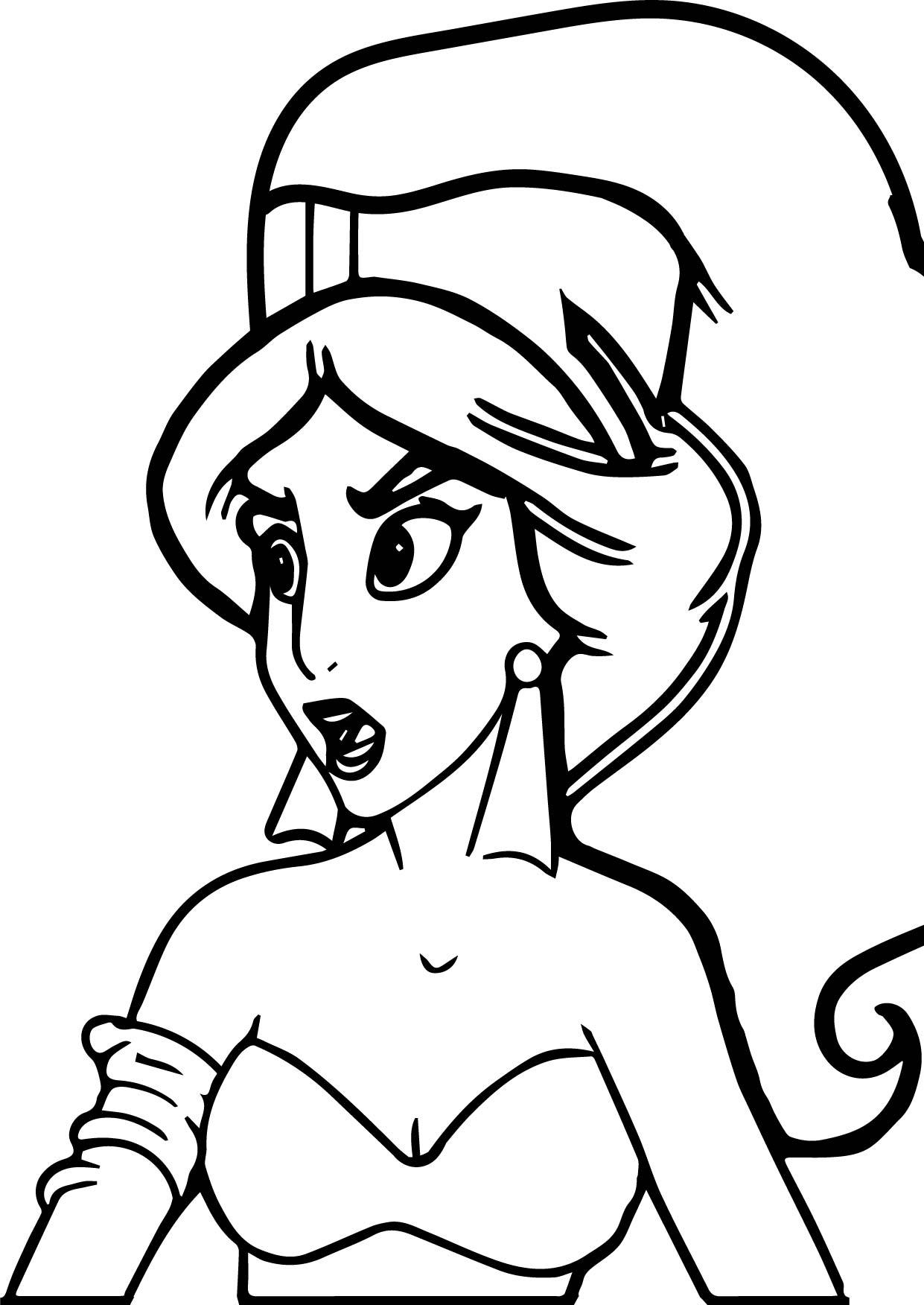 1241x1752 Princess Jasmine From Aladdin Movie Coloring Page Wecoloringpage