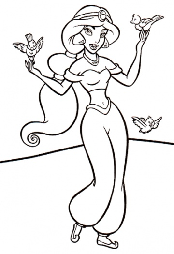 360x525 Aladdin And The Magic Lamp Coloring Pages Coloring Pages