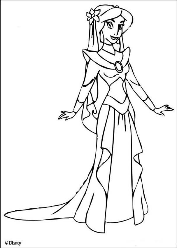 607x850 Aladdin Coloring Pages Princess Jasmine Coloring Page Jasmine