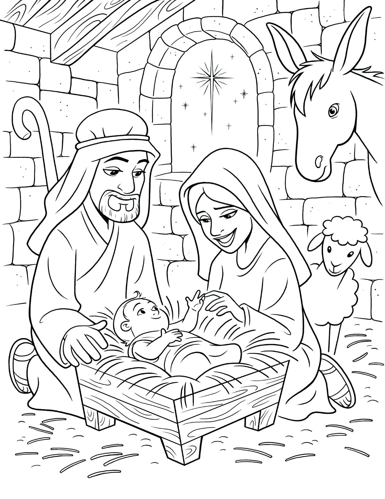 1236x1600 Baby Jesus Manger Coloring Pages Nativity Book Colorine Gallery