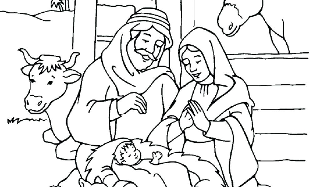 1024x600 Christmas Coloring Pages Jesus Coloring Pages Religious Jesus