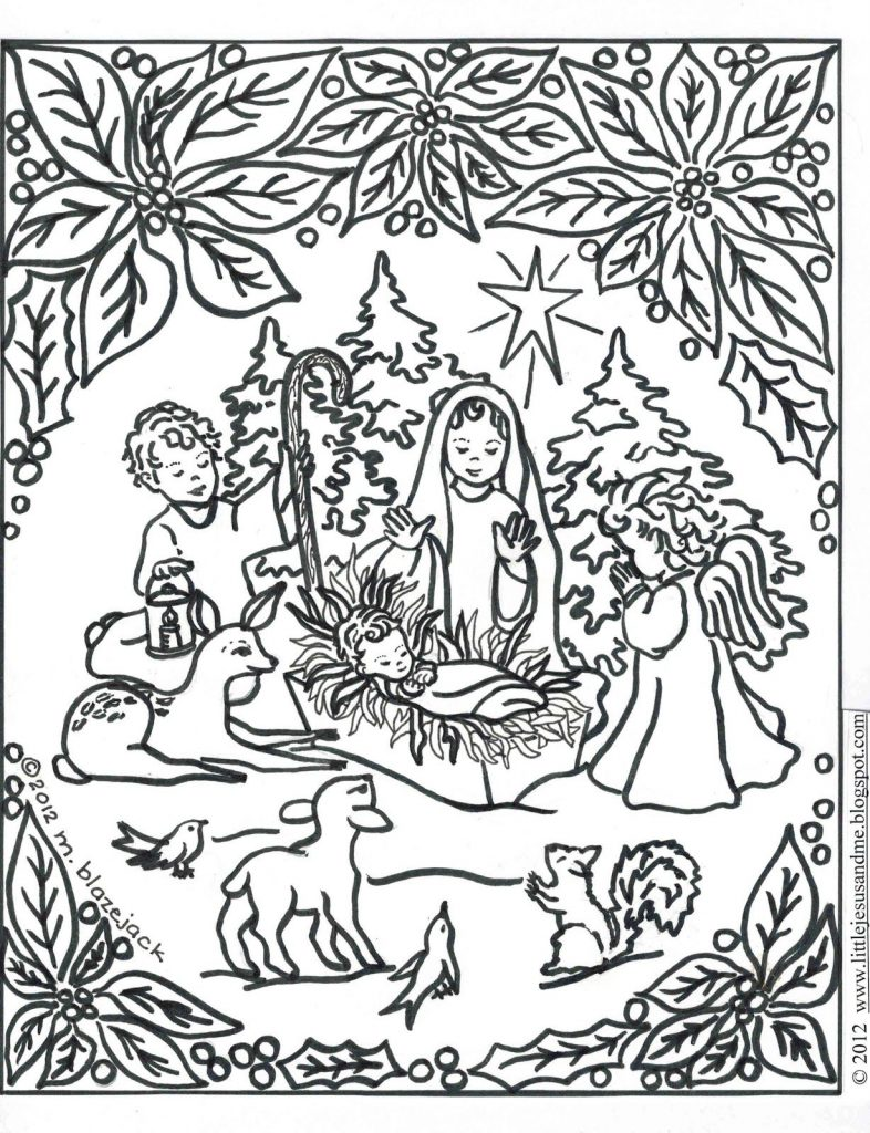 786x1024 Away In A Manger Coloring Pages