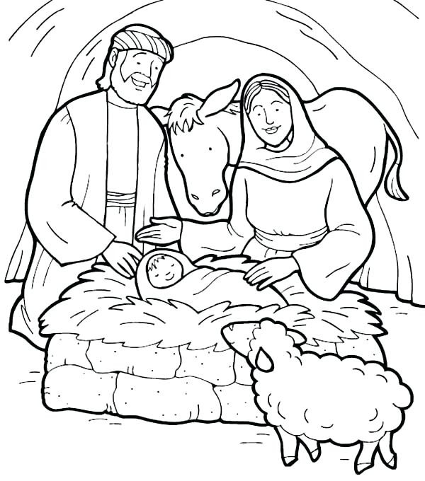 600x680 Free Printable Coloring Pages Jesus Birth New Baby Manger