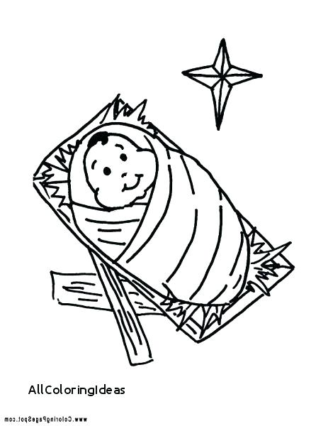 463x600 Jesus In Manger Coloring Page Coloring Pages Religious Coloring