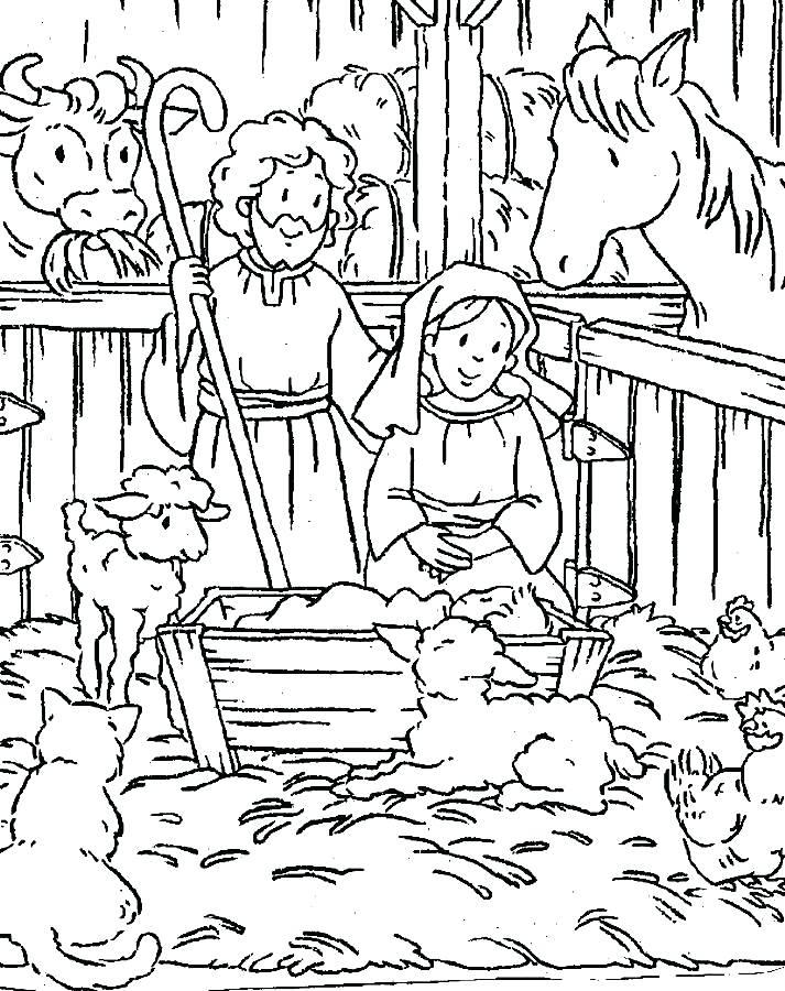 713x900 Baby Jesus Manger Coloring Page