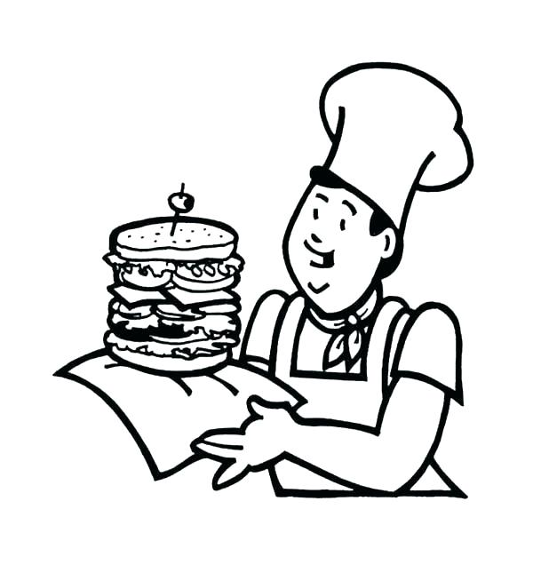 600x636 Fast Food Coloring Pages Junk Food Coloring Pages Fast Food