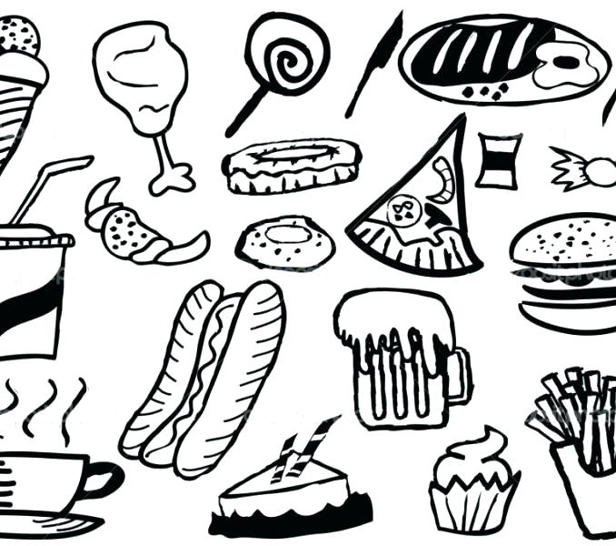 Coloring Pages Of Junk Food At Getdrawings Com Free For Personal
