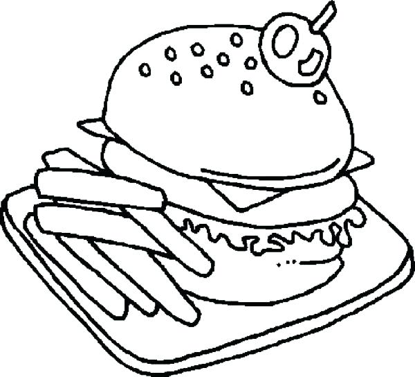 600x544 Good Fast Food Coloring Pages Or Junk Food Coloring Pages Fast