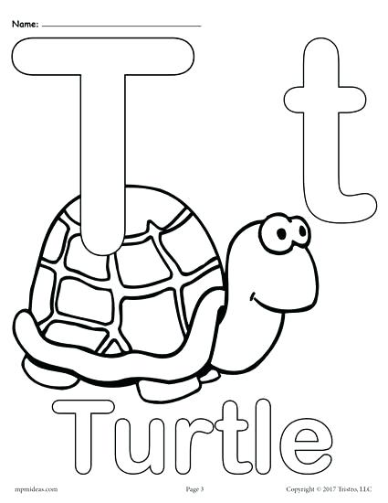 425x550 With Free Printable Uppercase And Lowercase Letter T Coloring Page