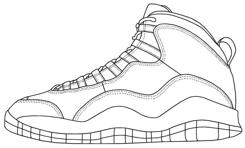 Coloring Pages Of Michael Jordan Shoes
