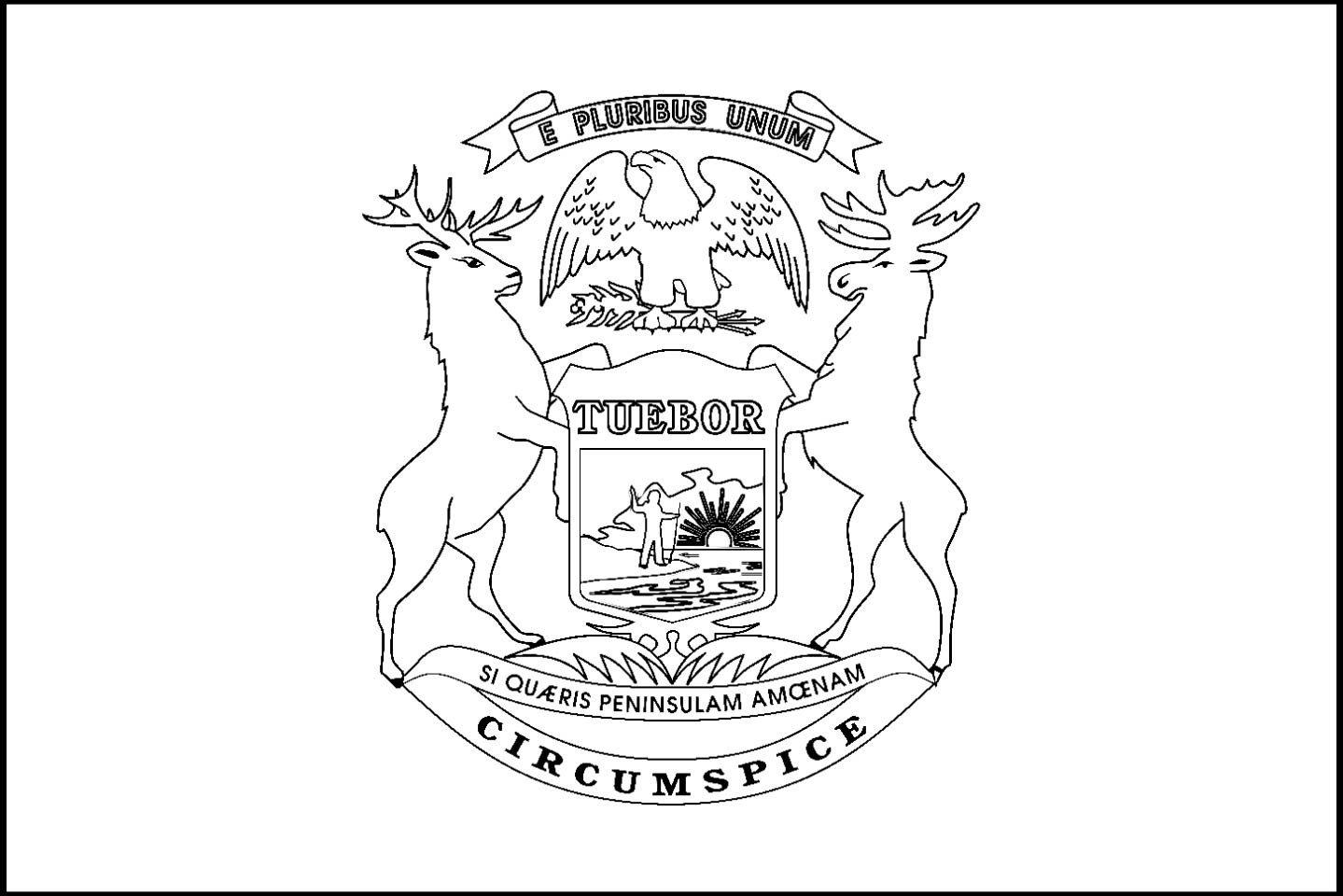 Coloring Pages Of Michigan